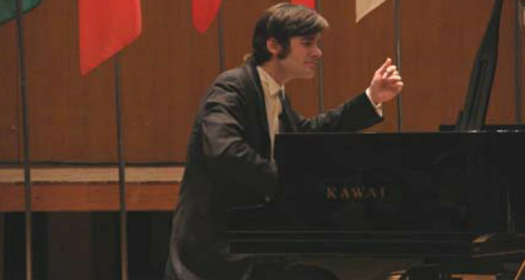 Evgeny Starodubtsev, one of the winners, performing at the final round