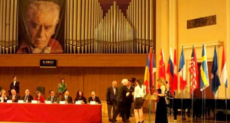 """Special prize, """"the Best Performance of a Concerto"""" , tha was awarded by acoustiKa went to Anastasia Nesterova and Stepan Simonian"""